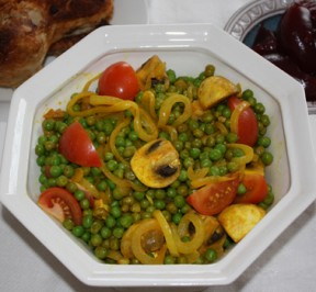 Photos of Recipe with Peas, Mushrooms, & Tomatoes