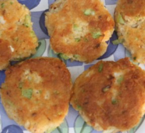 Gluten-free Crab Cakes on a dish