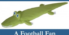 Al-the-Gator - a Football Fan - Relaxes stiff necks and backs