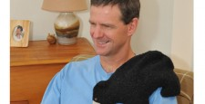 Black Bear microwave heating pad relaxes stiff back and shoulder muscles