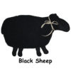Black sheep with black face and feet