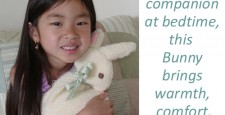 Girl with Bunny, words say,