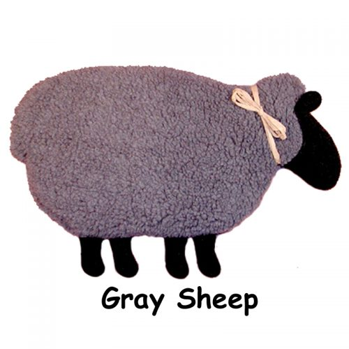 Gray Sheep with black face and feet