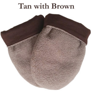 Microwave Hand Warmers in Tan with Brown