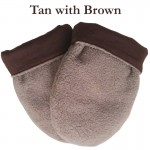 Microwave hand warmers in tan with brown lining