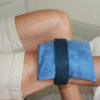 Knee Ice Pack strapped to woman's knee