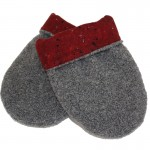 Gray with Red Cinder Microwave Hand Warmer mittens