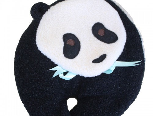 Panda Bear microwave heating pad front view