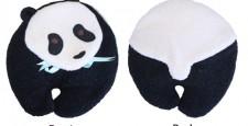 Panda Bear heating pad front and back views
