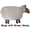 beige Sheep with brown face & feet