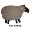 Tan sheep with black face & feet