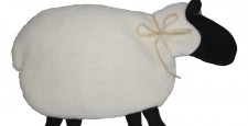 White with black sheep microwave heating pad
