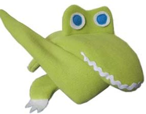Smiling Alligator Extra Long Neck Warmer folded up