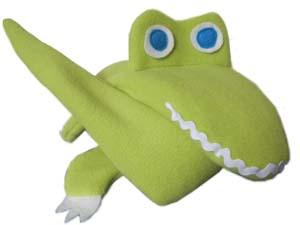 Smiling Alligator Extra Long Neck Warmer folded up