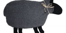 gray with black sheep warmer