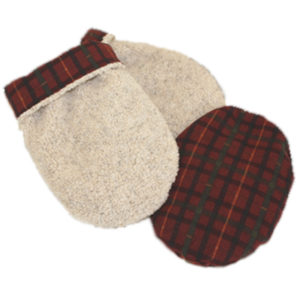 Beige with Cranberry Bog Hand Warmers