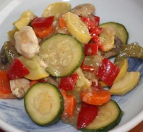 veggie and chicken stirfry