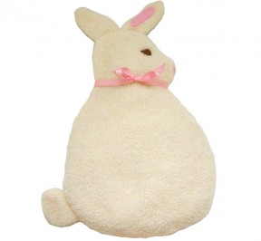 white bunny bed warmer