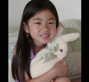 white bunny reuseable heating pad for kids