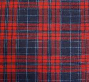 Cranberry Navy Blue Plaid Flannel