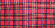 Small Scotch red plaid with blue, black yellow, & white