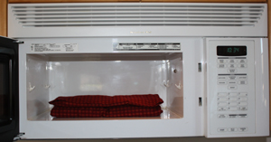 extra large back warmer in microwave