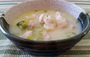 Monkfish Stew, ready to eat in a bowl