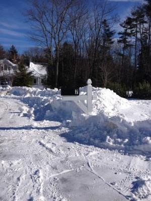 Snowbank in Maine