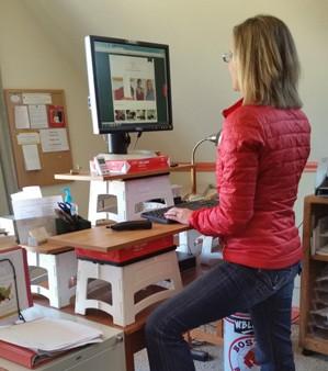 Proper Posture At Stand Up Computer Workstation