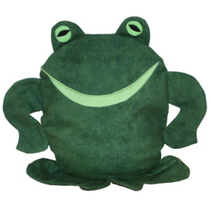 Frog w white background